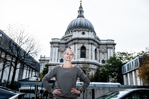 Hannah England City of London Mile launch St Paul's