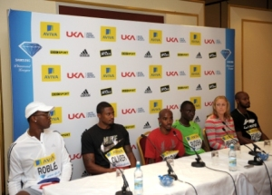 Mo Farah VLM London Marathon press conference 2013