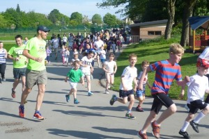 junior parkrun action shot