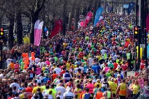 London Marathon masses