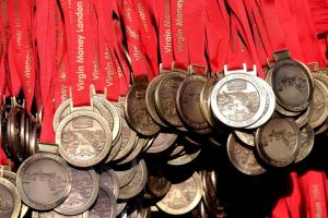 London Marathon medals 2014