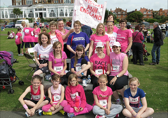 Laura Parker at Race for Life